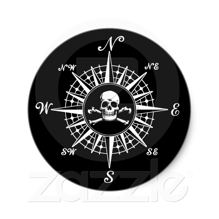 compass rose skull 1 classic round sticker pimpin 39 my ride pinterest compass rose compass. Black Bedroom Furniture Sets. Home Design Ideas