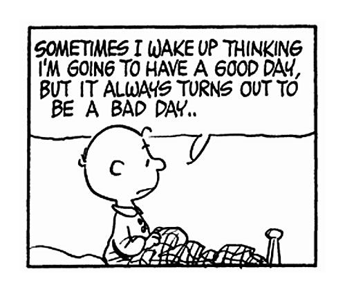 PEANUTS: Good Day, My Life, Quotes Charliebrown, Random, Poor Charlie, Peanuts Gang, Bad Day, Charlie Brown Peanuts