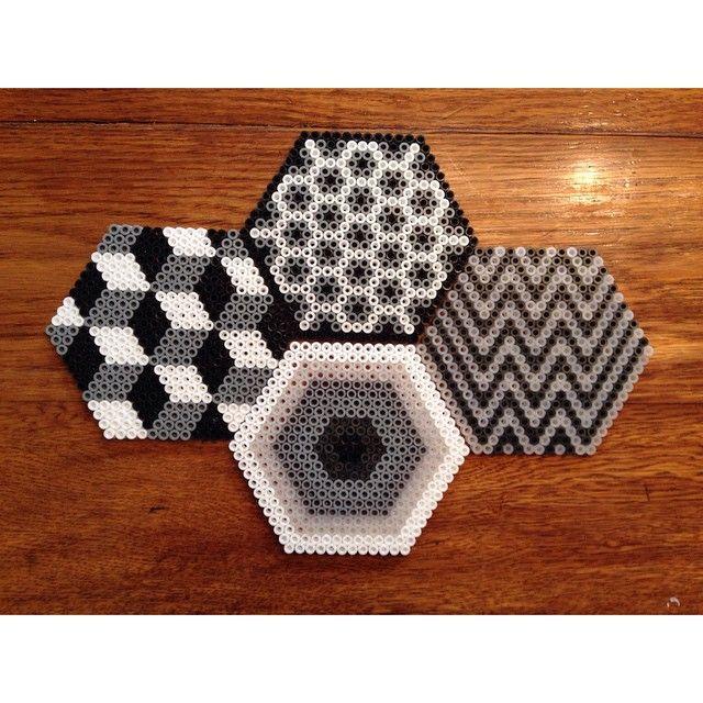 Coasters hama beads by jmorneauphoto