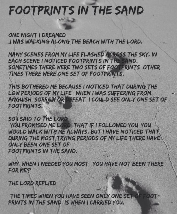 Footprints In The Sand Poem Black And White | www.imgkid ...