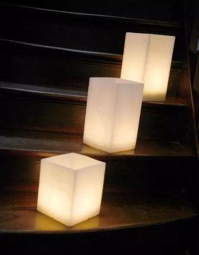set de tres fanales centro de mesa con velas led