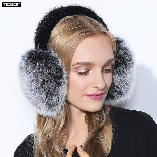 Cache Oreille Rushed 2017 Fashion Trend Winter Full Leather Natural Fox Fur Ear  Muffs Thermal Girl W…   Fashion trends winter, Women's earmuffs, 2017  fashion trends