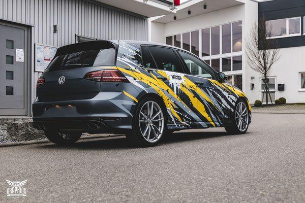 Vw Golf 7r Mtchbx Design Premium Wrapping Golf Car Wrap