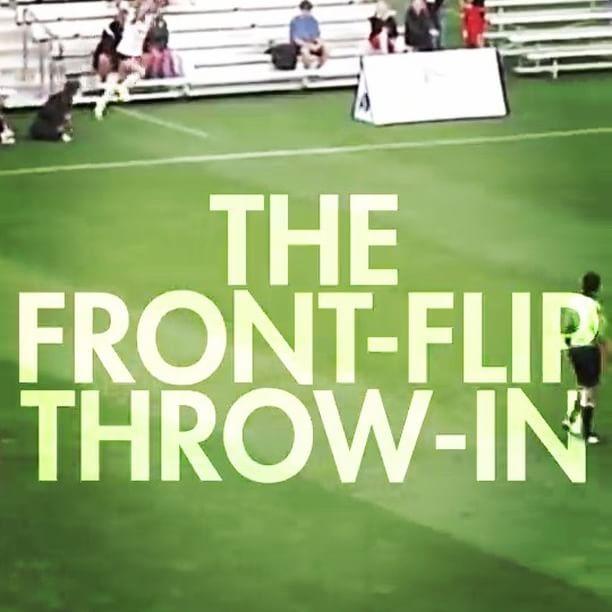 The front flip over head throw-in in women's ⚽️. #women #girl #girls #football #soccer #youtube #instavideo #instapic #instawow #instagood    #Regram via @insatiable_k