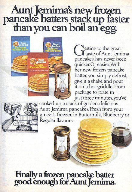 AUNT JEMINA Frozen Pancake Batter Vintage TV Dinner Ads For National Frozen Food Day