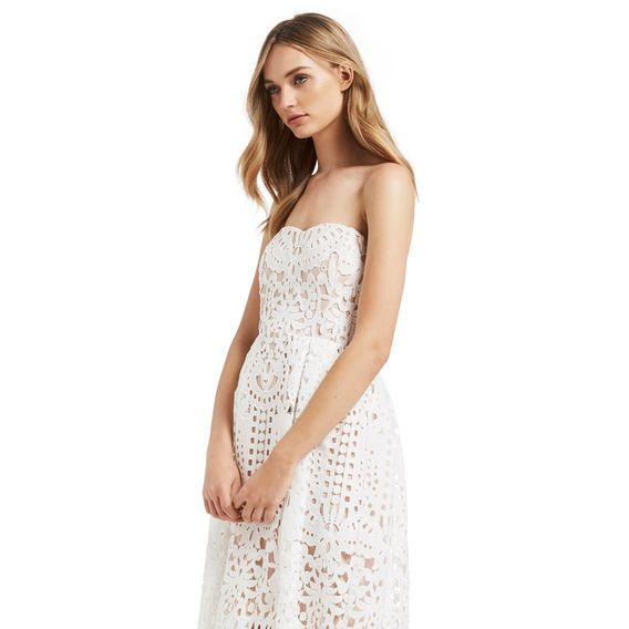 seed | lace strapless dress