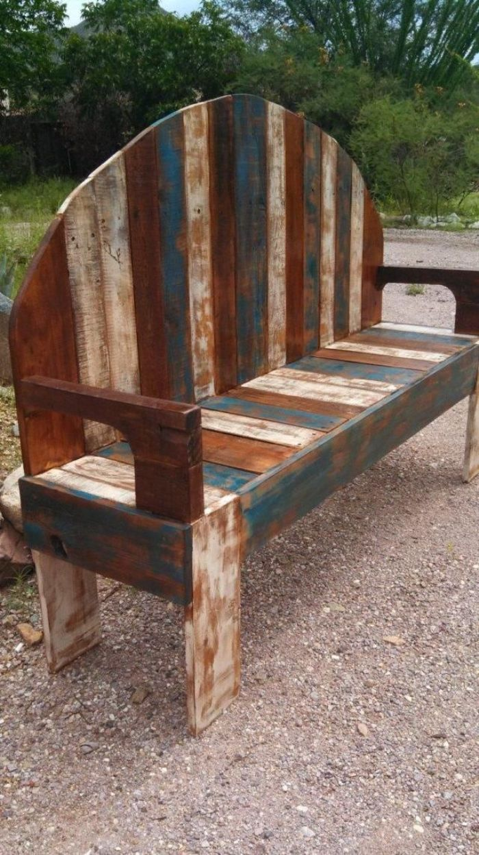 Presenting to you an idea of wood bench made up of roots of trees or  roughly dressed limbs, a handmade rustic pallet bench, as garden seat: Best  chosen ...