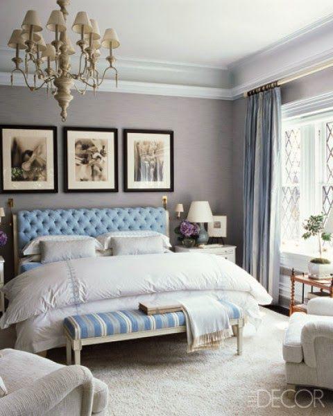 дневник дизайнера: Голубой цвет в интерьере классической спальни. 60 картинок небесного блаженства