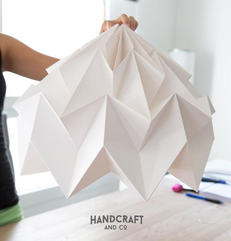 Origami Lamp Folding Pattern & Tutorial | Craftsy