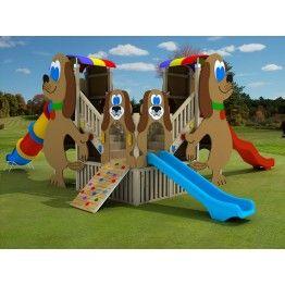 Anaokulu Tonya Ahşap Çocuk Oyun Parkı