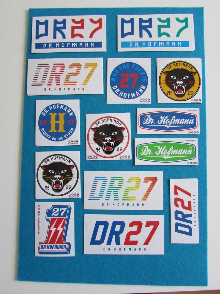 Dr. Hofmann Stickers Color