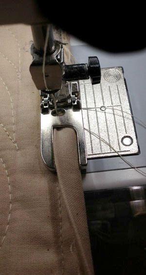 Binding a quilt using Bernina Felled seam foot #70