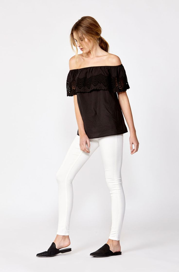 The best of what's new! Shop the Majorca Off The Shoulder Top in stores and online now www.decjuba.com.au @Decjuba