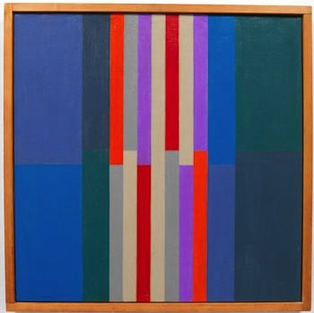 """Composición 208, 1951. Tomás Maldonado (b1922). Argentine painter, industrial designer and thinker, is considered one of the main theorists of the legendary """"Ulm Model"""", a design philosophy developed during his tenure at the Ulm School of Design in Germany (founded by Max Bill)."""
