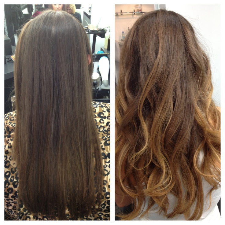 17 best images about hairs on pinterest galaxy hair color for hair growth and blue hair - Ombre hair brune ...