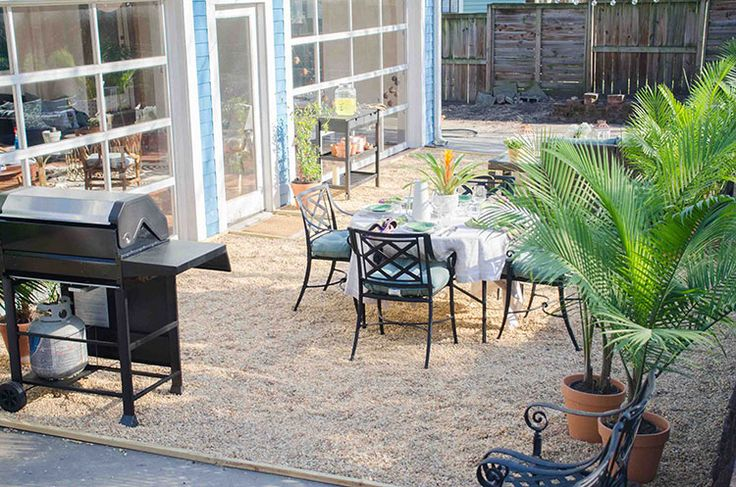 How To Create A Chic Gravel Patio