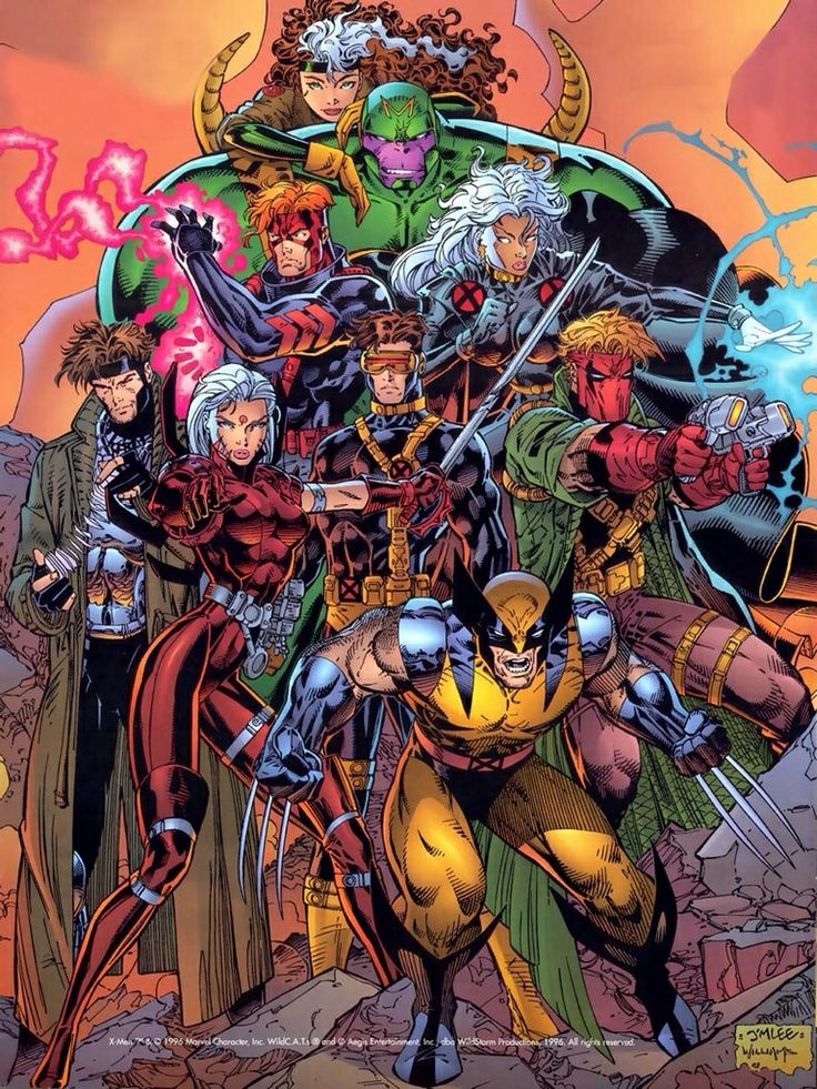 Wolverine, X-Men & Wildcats by Jim Lee...... !!!!