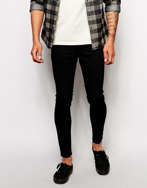 $88, Black Skinny Jeans: Cheap Monday Jeans Low Spray Super Skinny Black. Sold by Asos. Click for more info: https://lookastic.com/men/shop_items/140077/redirect