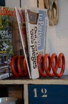 Coil spring paper rack