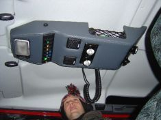 DIY roof console for a Defender