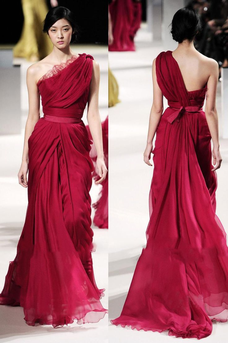 Elie Saab Burgundy Prom Dresses Evening Wear A Line Lace Necklin Classic Evening Gowns One Shoulder/Off Shoulder Long Skirts Evening Dresses For Larger Ladies Evening Dresses For Teens From Gonewithwind, $130.66| Dhgate.Com