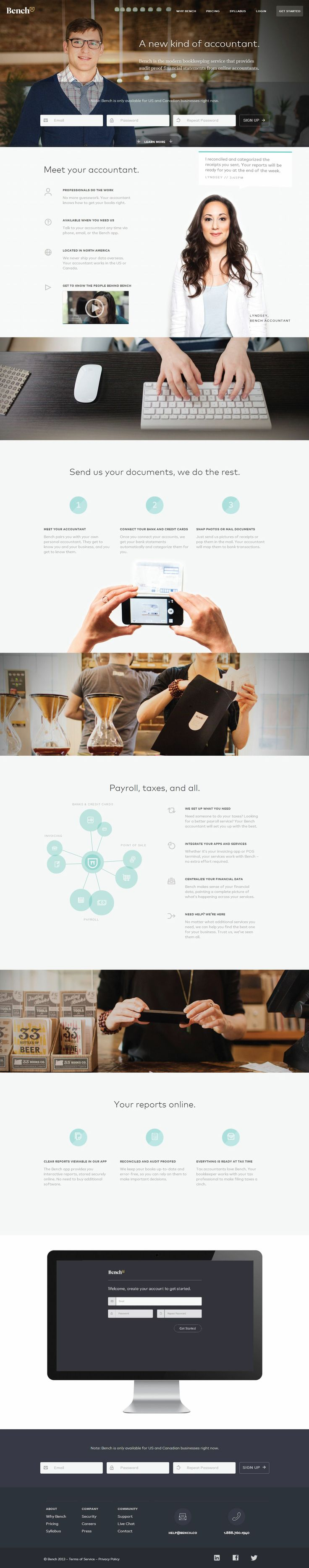 Bench - Flat UI Design Website