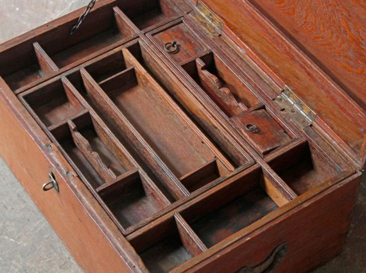 This authentic merchant's vintage storage chest from Northern India has a coin slot in its lid. #vintage #vintagefurniture #homedecor #homestyle