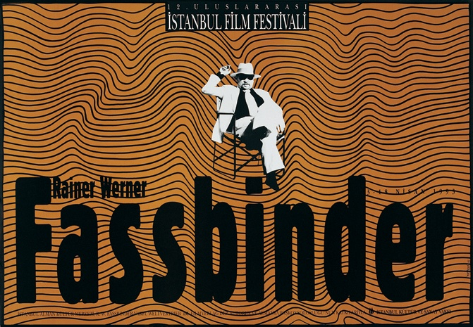 Fassbinder poster from the Istanbul Film Festival