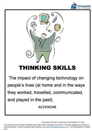 Teacher Resources History – The Impact Of Changing Technology On People's Lives Unit Of Work