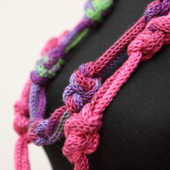 Knitting Knots Rolde : Collar de violetred batik verde p�rpura eternidad por