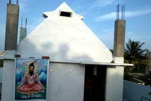 VeeraBrahmendraSwamy Pyramid Meditation Center year of construction : 2013 size : 12ft x 12ft (roof top) | capacity : 20 persons type of structure : RCC timing : 24x7, open for public use technical person : Somashekara Sharma   contact : D Shankaraiah, mobile : +91 90327 66234 address : Pyramid road, New Raghavendra colony, Hyderabad road, Nalgonda town http://www.pyramidseverywhere.org/pyramids-directory/telangana/nalgonda-district  #Pyramid #Pyramids