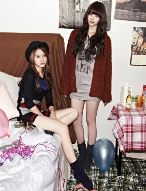 Krystal & Sulli of f(x) // casual chic