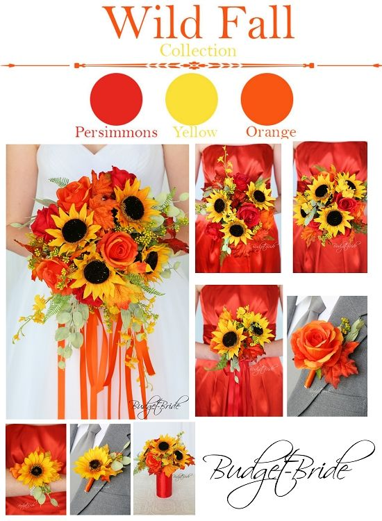 189 best fall wedding flowers images on pinterest fall theme wedding flower bouquets with sunflowers junglespirit Choice Image