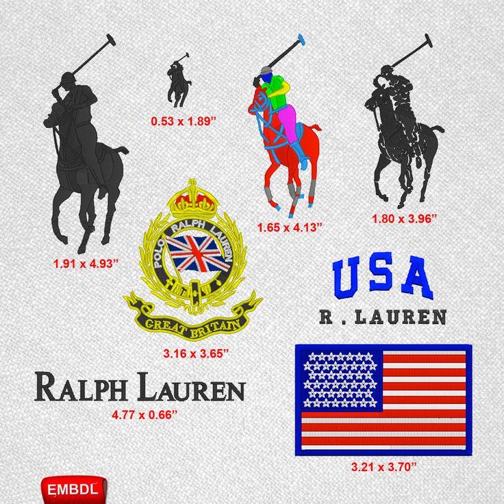 Ralph Lauren Pack Embroidery Design Instant Download