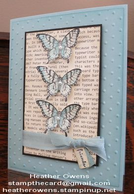 Spring has sprung! Stampin' Up! butterfly card.