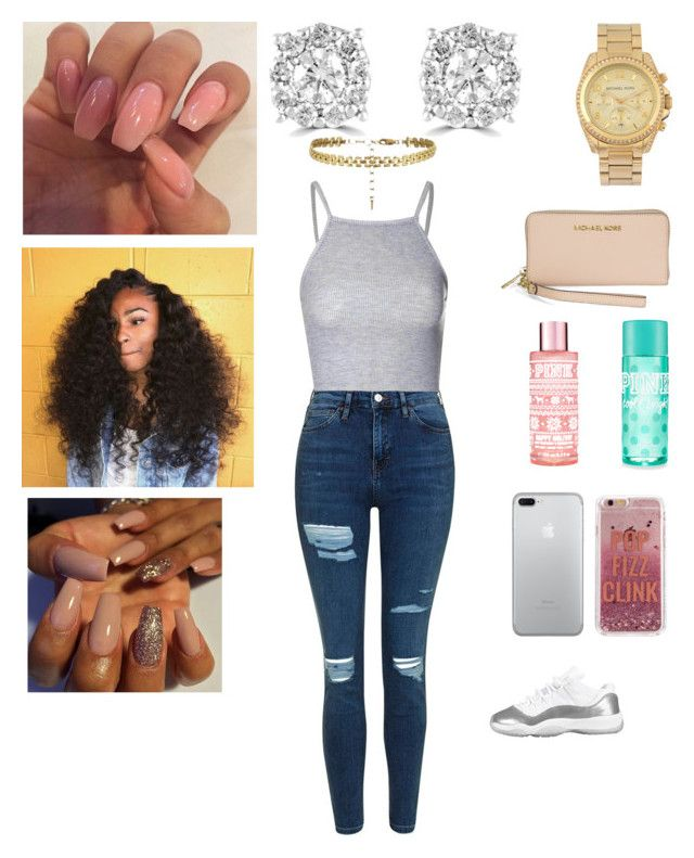 """""""Birthday Sunday"""" by lailabishop ❤ liked on Polyvore featuring Michael Kors, Topshop, Glamorous, Effy Jewelry and Agent 18"""