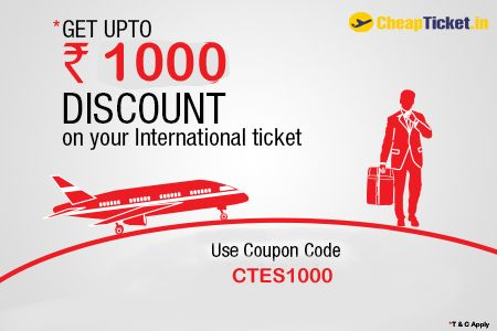 Get cheap flights india  with cheapticket.in & get best deals & offers on flight booking.