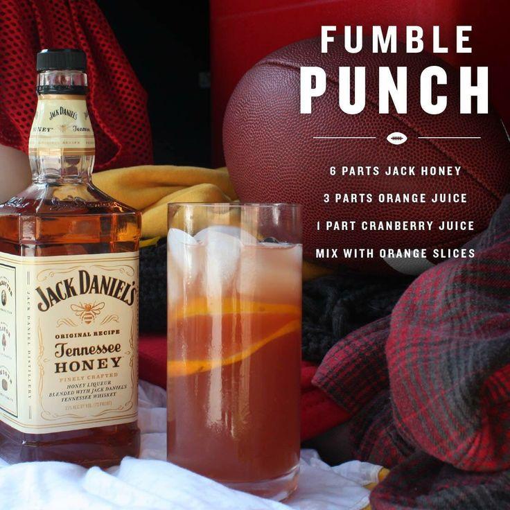 "Jack Daniel's Honey ""Fumble Punch"". Great for GAMETIME"
