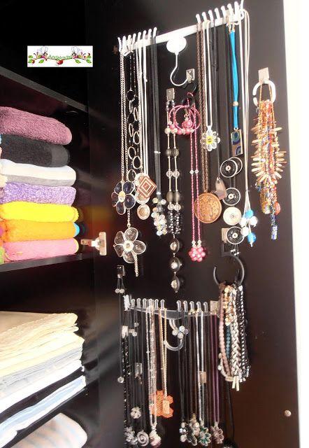 Andairadas organizador de joyas con perchas joyas for Colgador de perchas