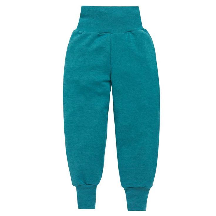 Babybukse, ull/silke: Babybukse med bred linning. 70% merinoull, 30% silke. fra Nøstebarn.