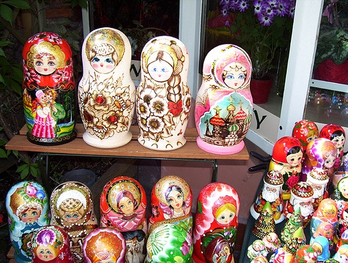 I remember playing with nesting dolls like these at my Great Nana's house.  It was one of the only things we could touch.  Great Memories!  Warsaw, Poland