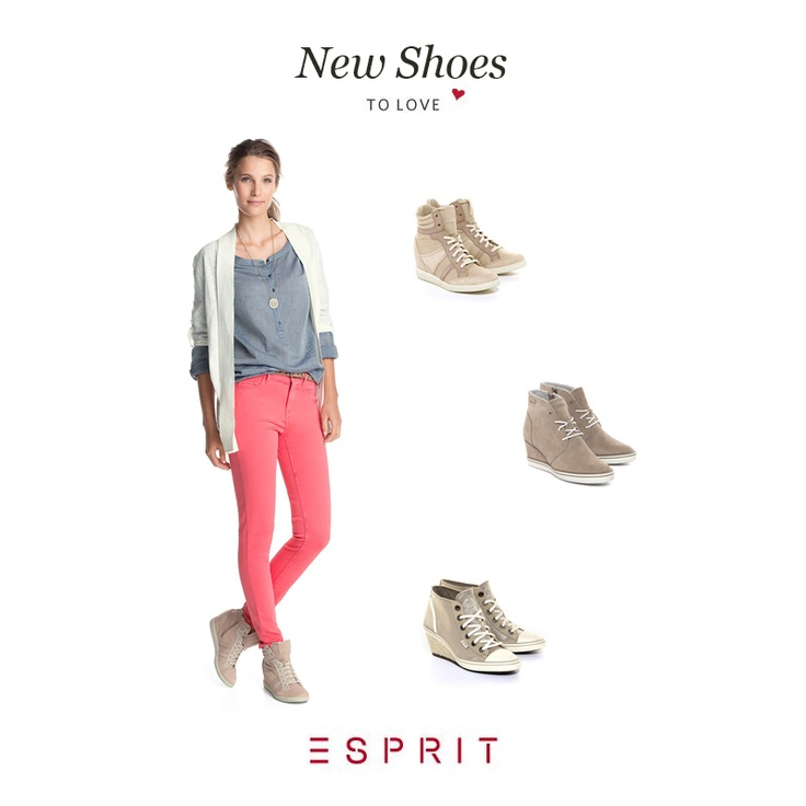Ready for the spring with ESPRIT's new Wedge boots, Spring Collection 2013