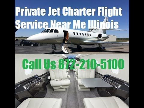 Private Jet Air Charter Flight Service To or From Chicago, Aurora, Peori...