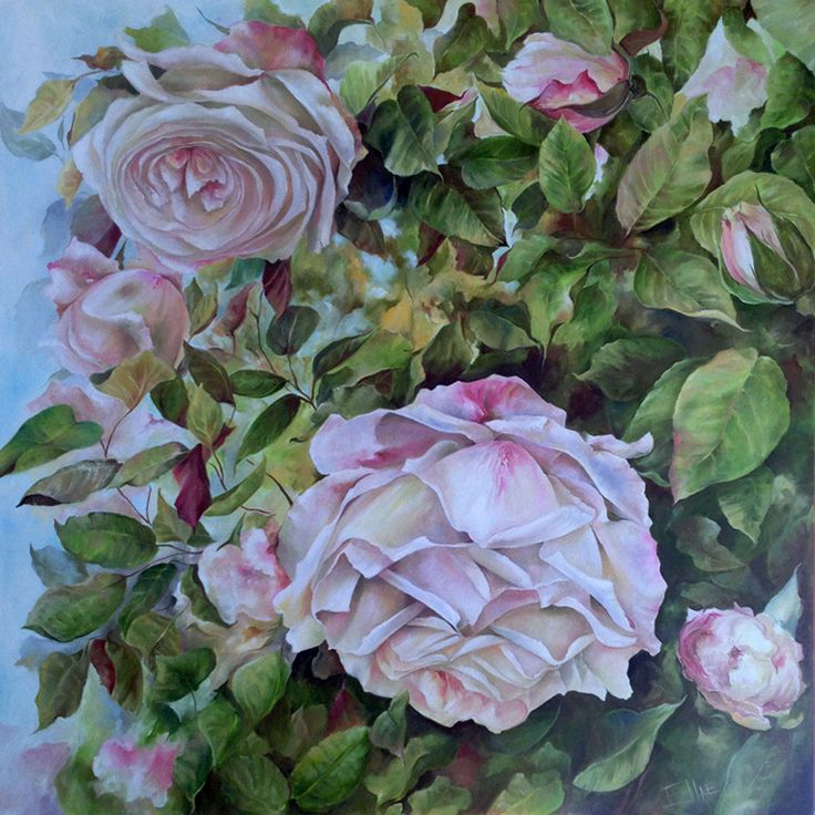 Rosa-Marie Oil on canvas (1m x 1m)