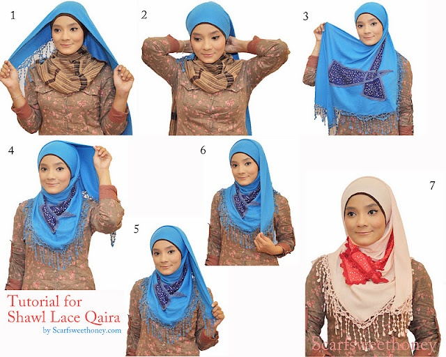 .how to wear shawl hijab