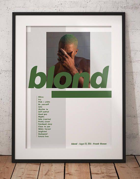 frank ocean blonde poster frank ocean