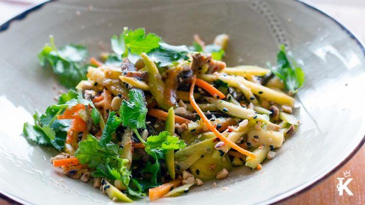 KingslandNZ-Saigon Cafe Restaurant-Green Mango Salad served with lamb, chilli and garlic