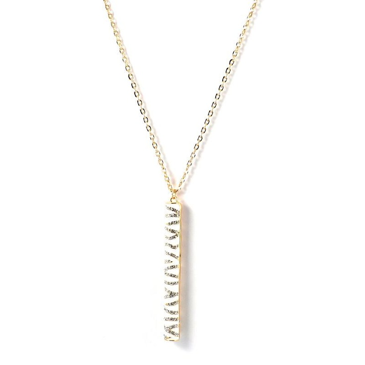 Mikey London Gold Tone Crystal Pencil Necklace £25