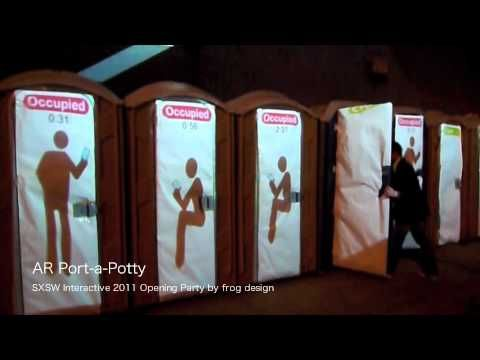 AR Port-a-Potty - SXSW Interactive 2011 Opening Party by frog design