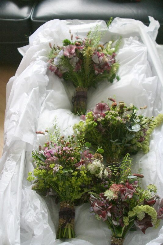 lovely rustic unstructured bouquets
